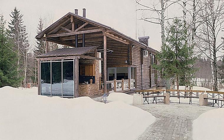 Загородный дом. фасад из проекта , фото №10824