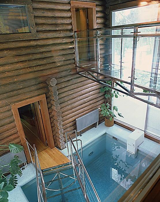 Загородный дом. бассейн из проекта , фото №10827