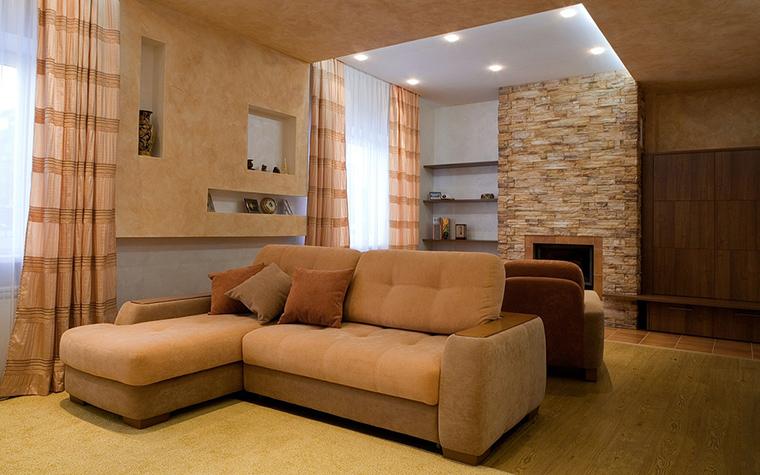 Фото № 20649 гостиная  Загородный дом