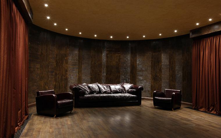 Загородный дом. домашний кинотеатр из проекта , фото №20950