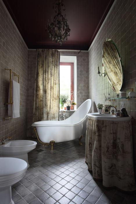Загородный дом. ванная из проекта , фото №21579