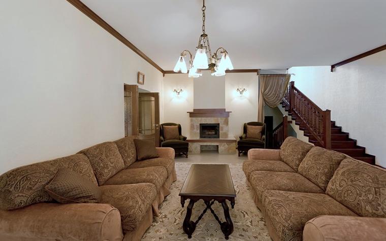 Фото № 21725 гостиная  Загородный дом