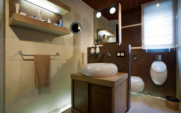 Фото № 22050 ванная  Загородный дом