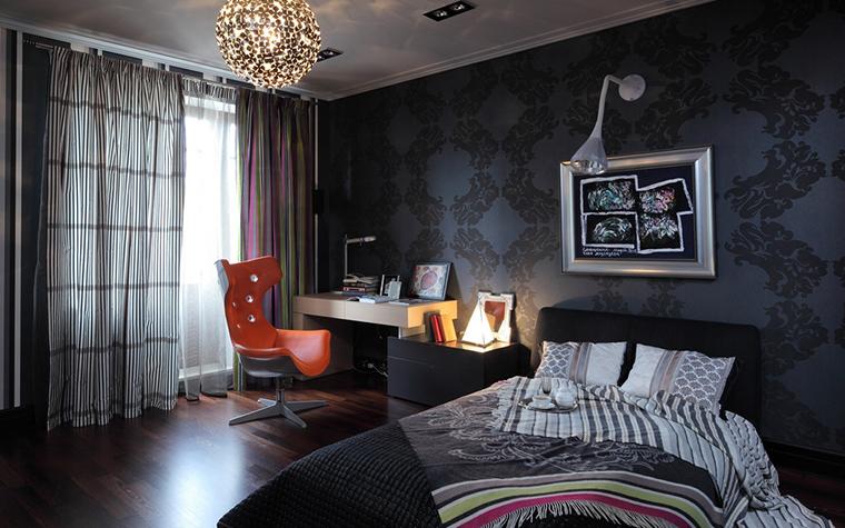 Фото № 22078 спальня  Загородный дом