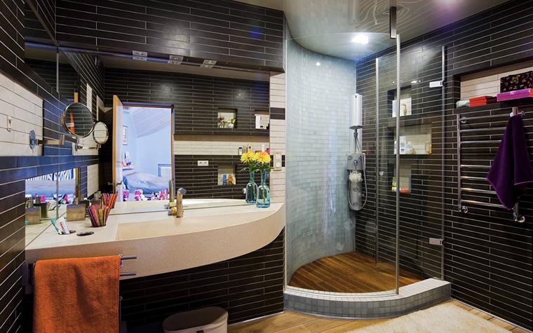 Загородный дом. ванная из проекта , фото №22607