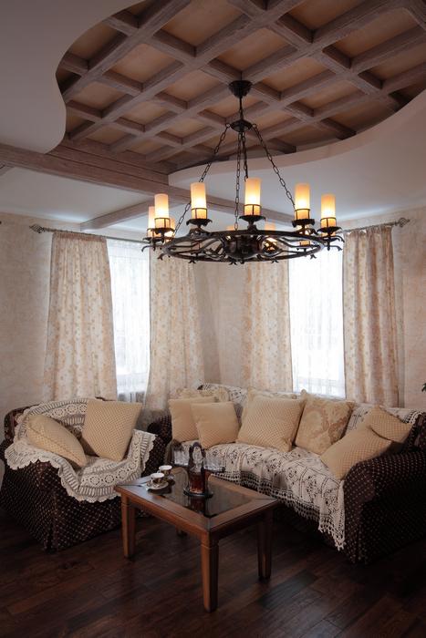 Загородный дом. гостиная из проекта , фото №23210