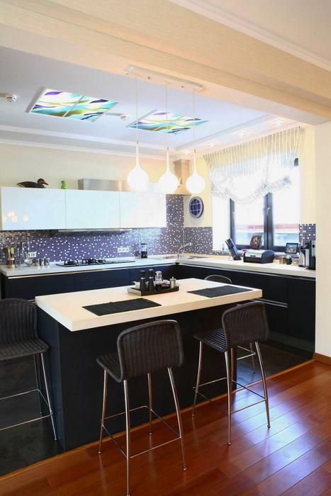 Фото № 25245 кухня  Загородный дом
