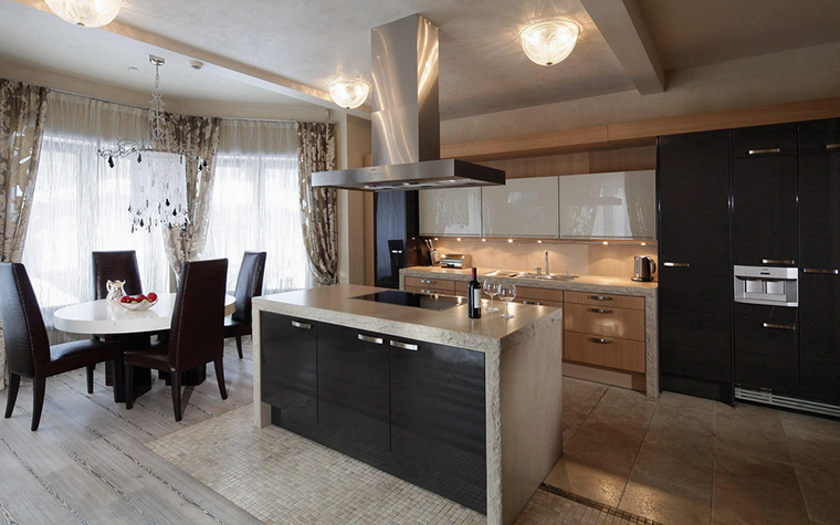 Фото № 25541 кухня  Загородный дом