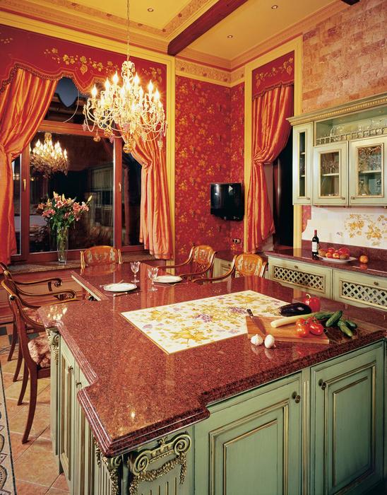 Загородный дом. кухня из проекта , фото №25607