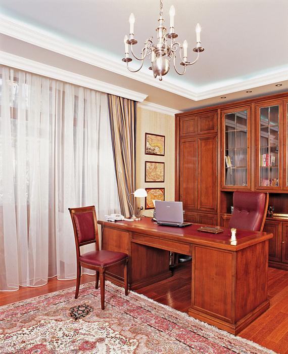 Загородный дом. кабинет из проекта , фото №25767