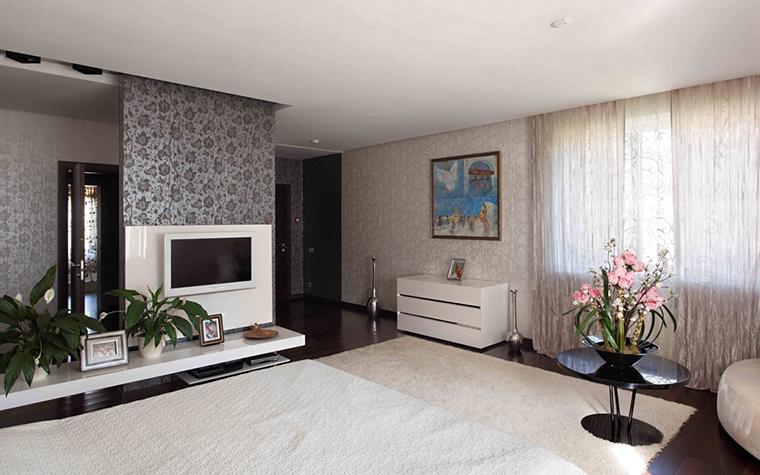 Загородный дом. спальня из проекта , фото №25795