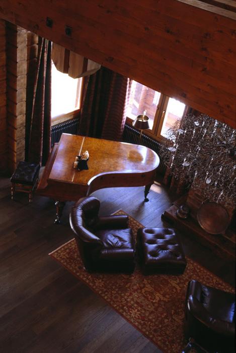 Фото № 26476 гостиная  Загородный дом