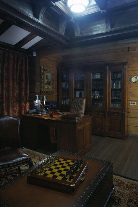Фото № 26488 кабинет библиотека  Загородный дом