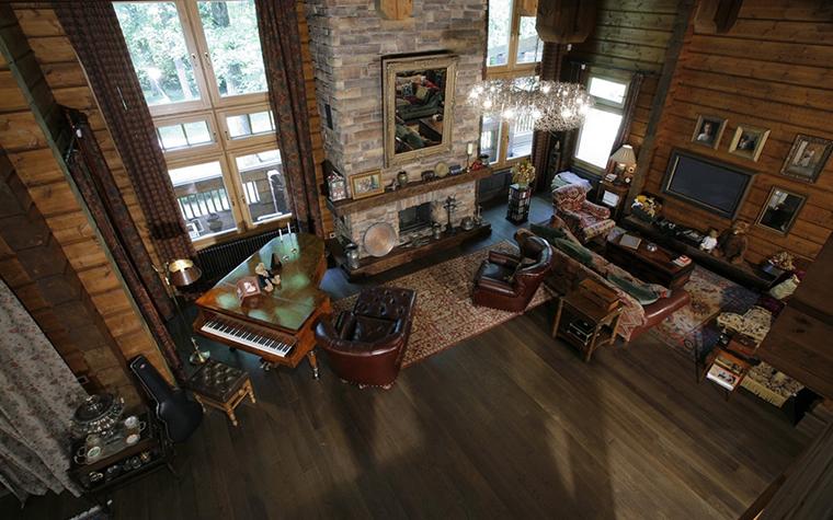 Фото № 26481 гостиная  Загородный дом