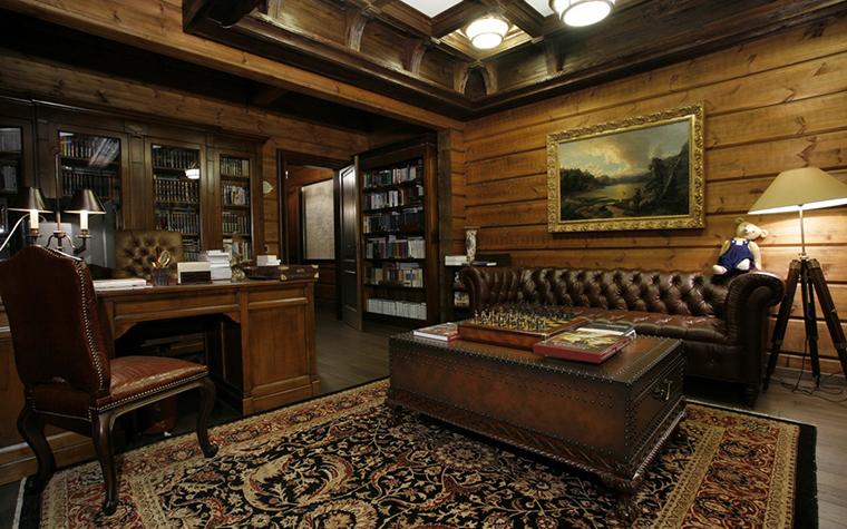 Фото № 26486 кабинет библиотека  Загородный дом