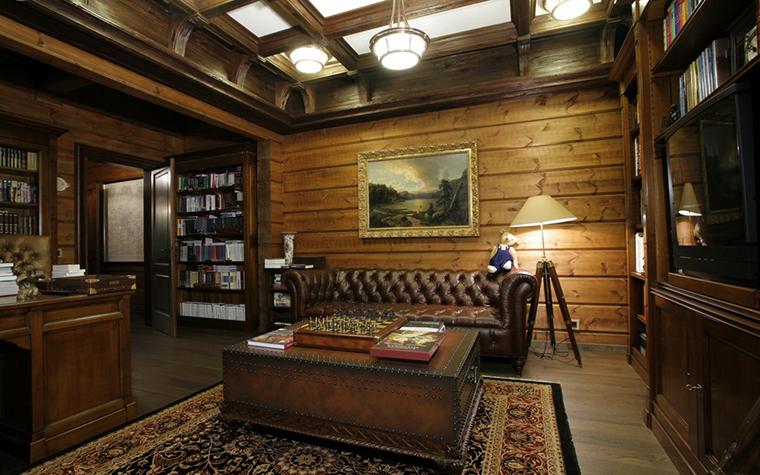 Фото № 26487 кабинет библиотека  Загородный дом