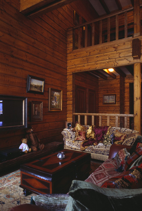 Фото № 26475 гостиная  Загородный дом