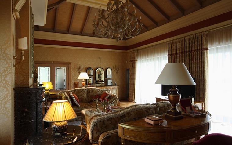 Фото № 26817 гостиная  Загородный дом