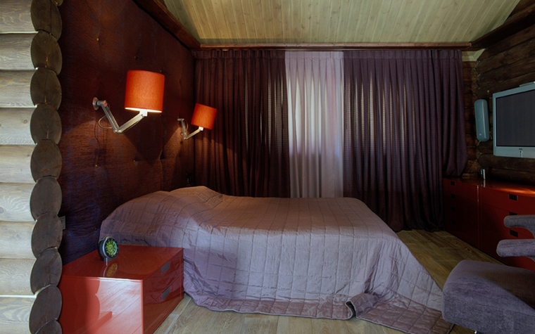 Загородный дом. спальня из проекта , фото №27175