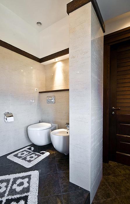 Загородный дом. ванная из проекта , фото №28819