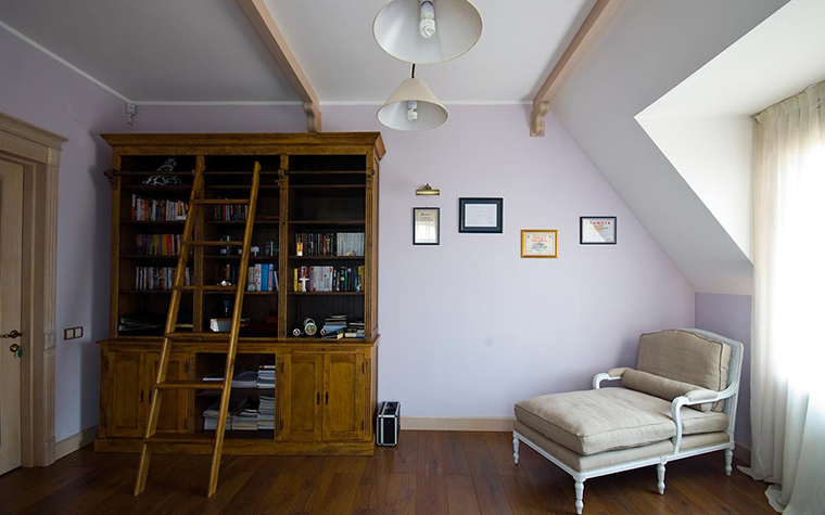 Загородный дом. кабинет из проекта , фото №28928