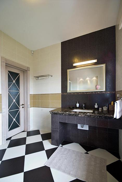 Загородный дом. ванная из проекта , фото №29052