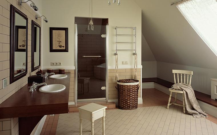 Загородный дом. ванная из проекта , фото №29684