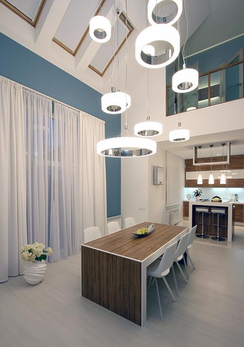 Дизайн интерьера столовой в загородном доме