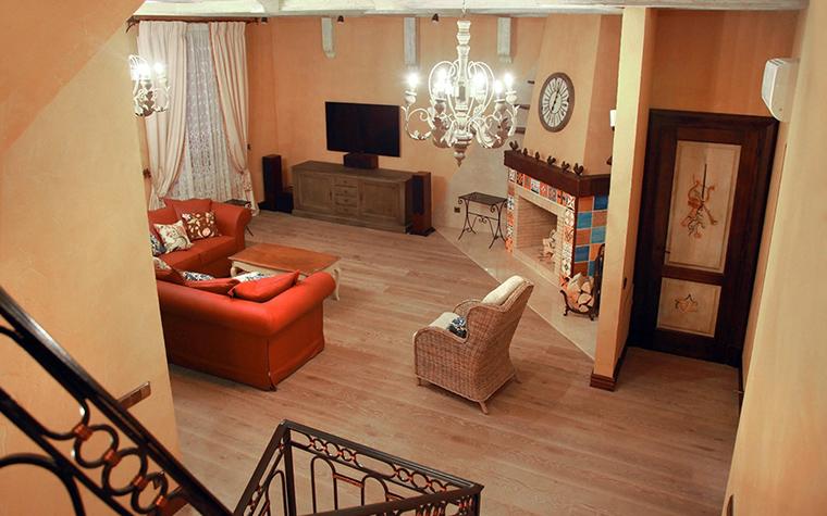 Загородный дом. гостиная из проекта , фото №31431