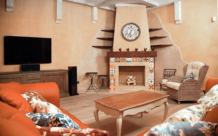 Загородный дом. гостиная из проекта , фото №31433