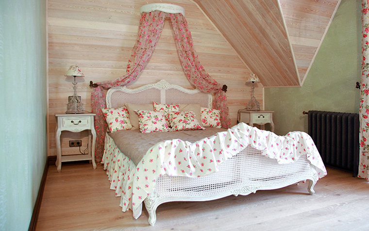 Загородный дом. спальня из проекта , фото №31427