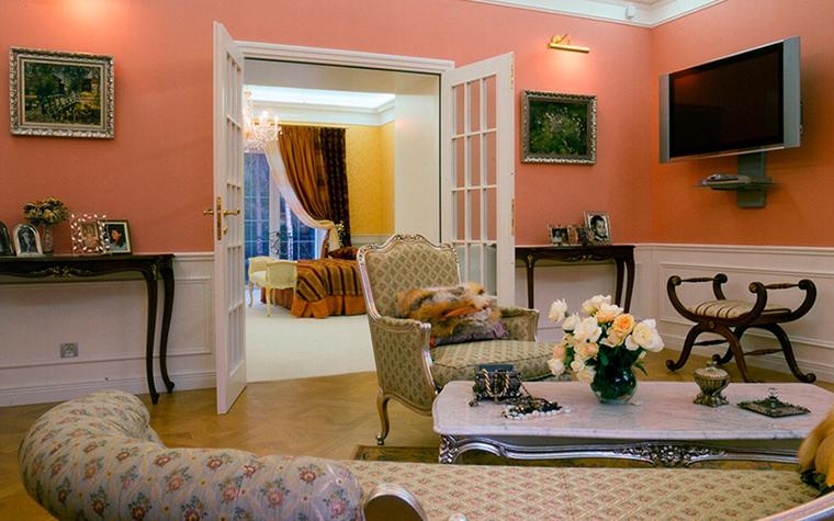 Загородный дом. гостиная из проекта , фото №31640