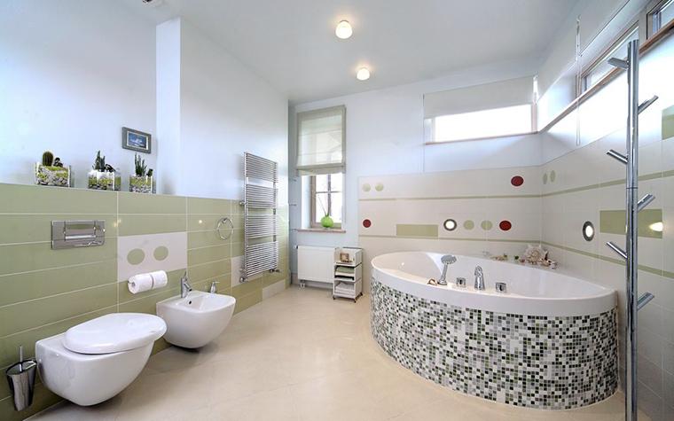 <p>Фотограф: Александр Кенденков</p> <p>Кстати, не забывайте, что ванная комната с джакузи требует хорошего светового сценария.Должно быть много света, и естественного, и искусственного.</p>