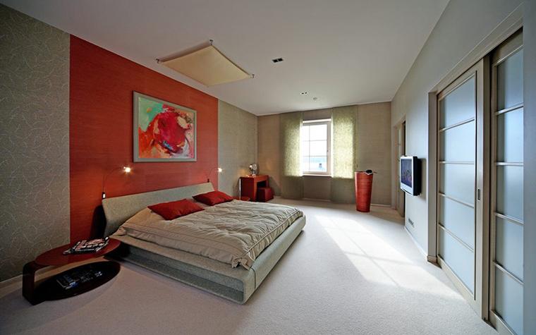 Загородный дом. спальня из проекта , фото №32039