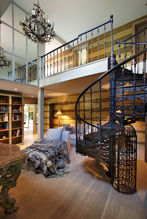 Загородный дом. кабинет из проекта , фото №32246