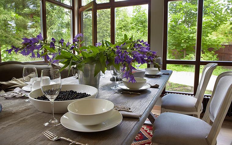 Загородный дом. столовая из проекта , фото №32250