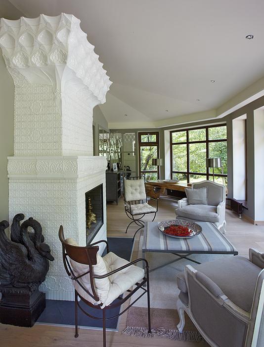 Загородный дом. гостиная из проекта , фото №32244