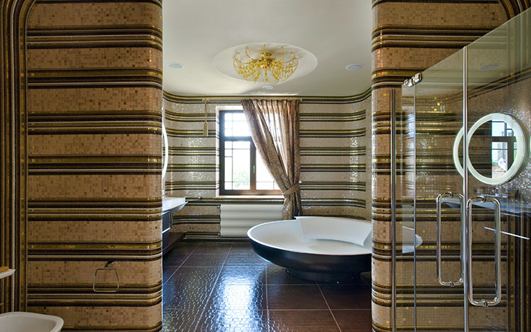 Загородный дом. ванная из проекта , фото №33943