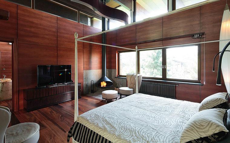 Фото № 32842 спальня  Загородный дом
