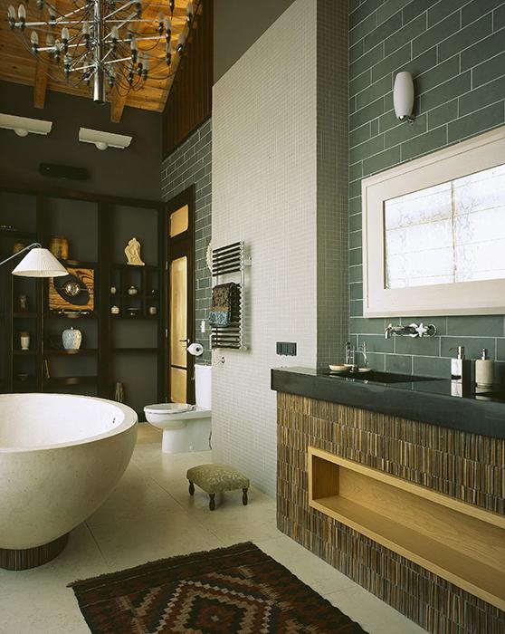 Загородный дом. ванная из проекта , фото №33659