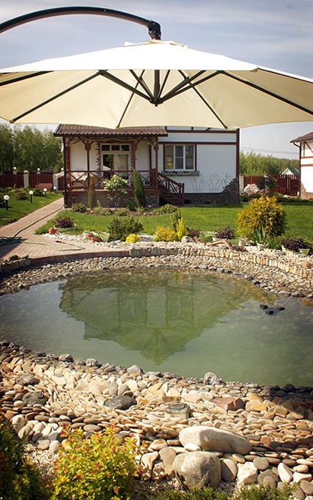 Загородный дом. водоем из проекта , фото №33719
