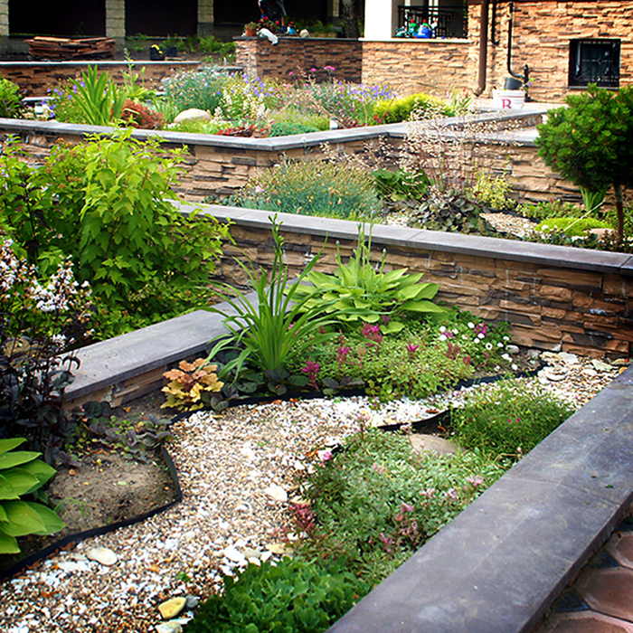 Загородный дом. цветник из проекта , фото №34539