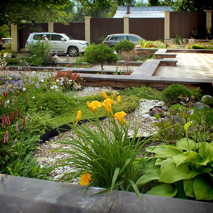 Загородный дом. цветник из проекта , фото №34540