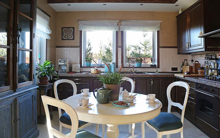 Загородный дом. кухня из проекта , фото №34450