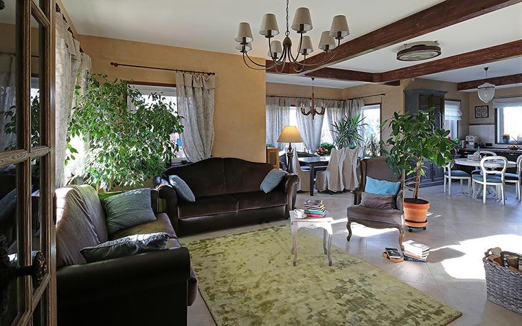 Фото № 34441 гостиная  Загородный дом