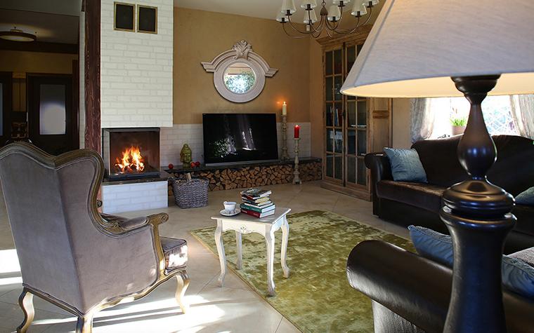 Загородный дом. гостиная из проекта , фото №34442