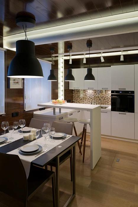 Загородный дом. кухня из проекта , фото №34470