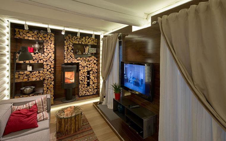 Загородный дом. гостиная из проекта , фото №34466