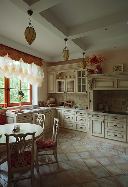 Фото № 34667 кухня  Загородный дом