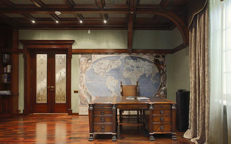 Загородный дом. кабинет из проекта , фото №34672